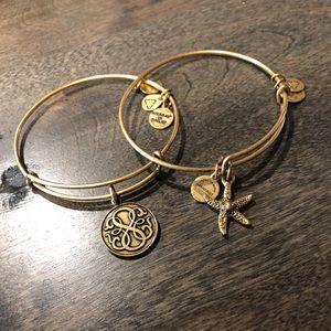 Alex and Ani Gold Bracelet Set